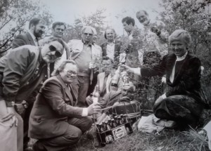 Yu. Herts (From the archive of N. Herts) (Traditional meeting of Transcarpathian and Slovak artists at the border, 1988)