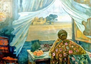 Visitor From The North, 1981, oil on canvas, 108х148