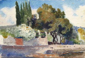 View Of The South Of The Village, watercolour on paper, 17,7х25,3