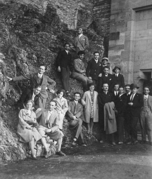 F. Manailo with Transcarpathian people in Prague, 1936