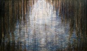 Ritta Hager Radiance (tapestry design) tempera, wax, paper 32х54
