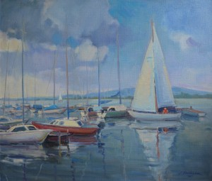 'Sailboats On Lake Velence'