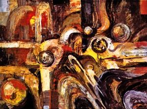 Composition, 2000, acrylic on canvas