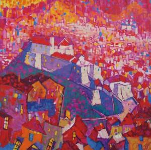 Мукачівський замок, 2010, п.о., 100х100
