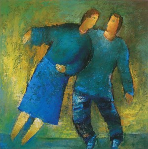 Dance Offer, 2010, oil on canvas, 70x70