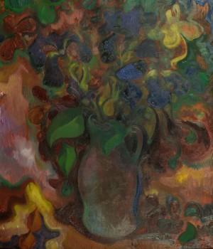Натюрморт з квітами, 1995, п.о.,  70х60