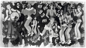 Музиканти, 1976, гобелен, 182х352