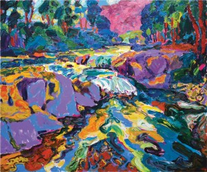 'Mountain Stream', 2008, oil on canvas, 100x120