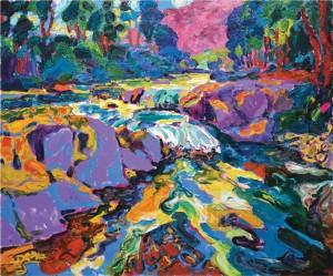 Гірський потік, 2008, п.о., 100х120