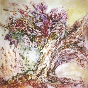 Квіти з гори Леляк, 2004, к.акр., 55х55