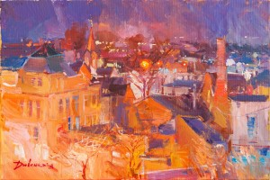 Y. Dulenko 'Night Roofs'