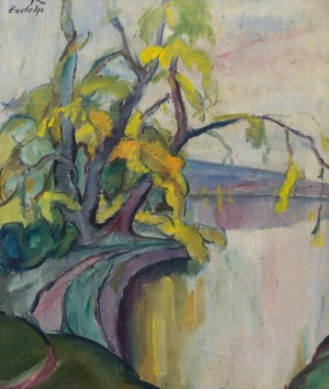 Willows Above Water, the second half of 1930s, oil on canvas