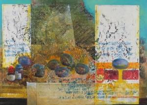 Composition, 1999, oil on wood, 42х57,5