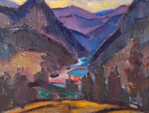 Blue Carpathians. Hutsul Land, 1967, oil on canvas, 50x65