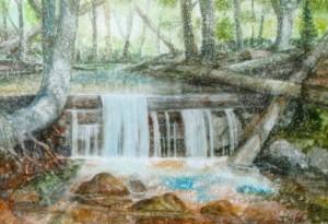 The Carpathian Wilderness, 2010, watercolour on watman, 58х82