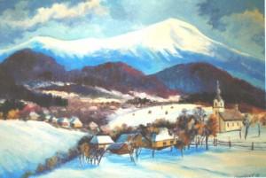 Under Pikui Mountain, 2008, oil on canvas, 60х80
