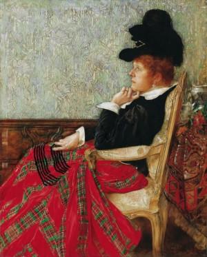 Жінка в кріслі , дерево,о., 73х50