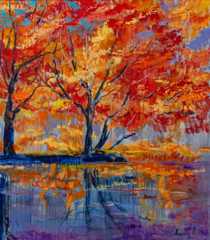 'Палаюча осінь', 2017, п.о., 70х80