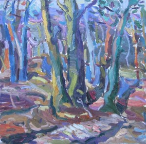 In the forest 2014 oil on masonite 45x40