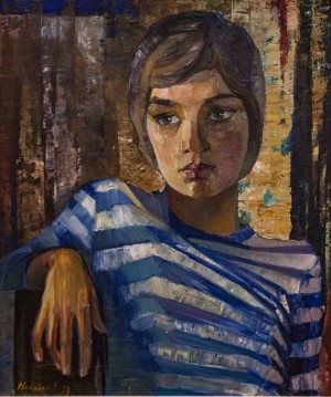 'Vitusia's Portrait', 1973, oil on canvas