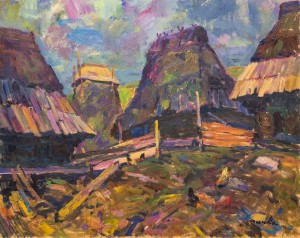 Farmstead, 1993, oil on cardboard, 60x50