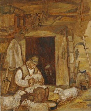A Shepherd, 2007, oil on canvas, 80х65