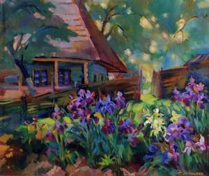 Сільський дворик, 2009, п.о., 50х60