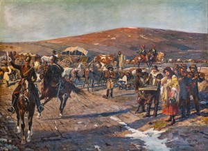 'In The Back Of The Hungarian Army. Gypsy Cart On The Road To Mediesha' (Fragment Of 'Transylvanian Panorama', 1897)