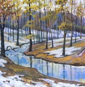 Тане сніг, 1999, п.темпера, 80х75