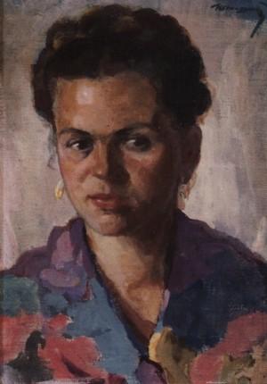 Портрет дружини, 1956, п. на к.о. 49х35