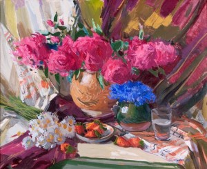 Still life With Flowers, 2004, oil on canvas, 60x70