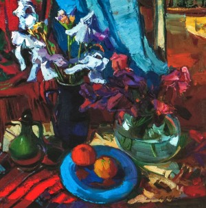 Still life With Irises, 2011, oil on canvas, 80x85
