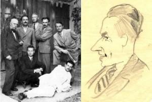 Жартівливий автопортрет, сер. 1940-х р.р.