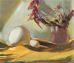 Натюрморт з динею, 1996, п.о., 60х70
