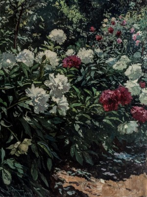 Peonies, 1947, oil on cardboard, 96,5х72
