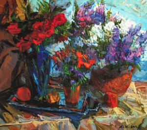 Still life With Lilac, 2011, oil on canvas, 70x90