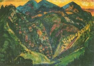 Темно-зелені Карпати, 1930-ті рр., карт.темп. г. 45х63