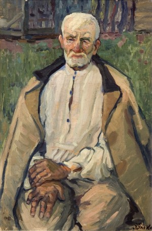 An Old Man Vasyl, 1959, oil on canvas, 71x48.5