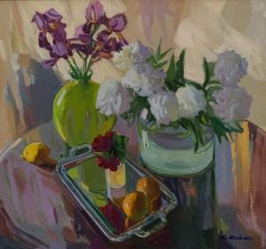 Still life With White Peonies,  2011