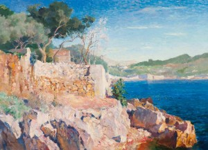 View Of The Mediterranean Sea, 1926, oil on canvas, 75,6х104,3