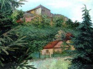 'Uzhhorod Castle', 1994, oil on canvas, 70x90