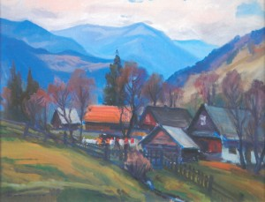 На краю села, 2009, п.о., 60х70