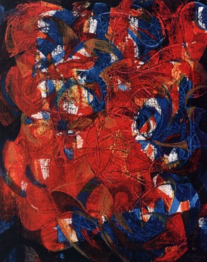 Improvisation, 1995, acrylic on canvas, 50x40