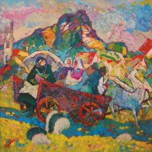To The Market, 2010, oil on canvas, 70x70