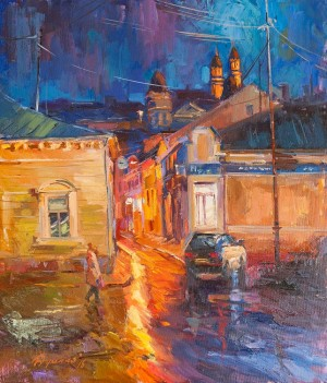 Y. Dulenko 'Night Uzhhorod'