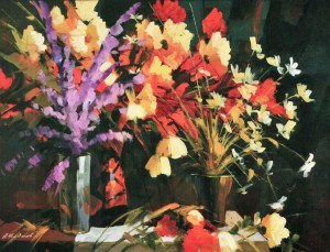 Flowering Coloured Flowers, 2010, 70x110