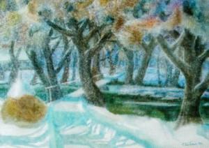 Autumn Surprise, 2010, watercolour on watman, 48х68