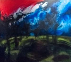Wild Apple Orchard 2', 2015, oil on canvas