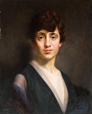 Жіночий портрет, 1918, дерево,о., 61,5х49,5