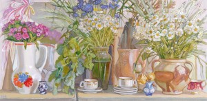 Spring In The Studio, 2013, oil on canvas, 50x100